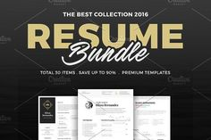 30 Best Selling Resume MEGA Bundle! by Elissa Bernandes on @creativemarket