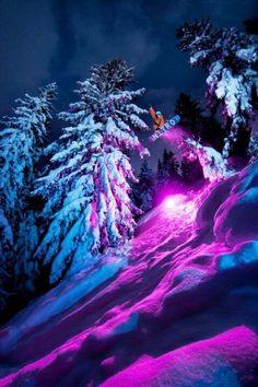 WInter fun for photographers- shoot at night of people snowboarding or skiing . These are  pretty cool