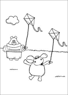 Shaun the sheep Tegninger til Farvelægning. Printbare Farvelægning for børn. Tegninger til udskriv og farve nº 14