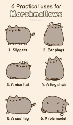 Uses for marshmallows, Pusheen