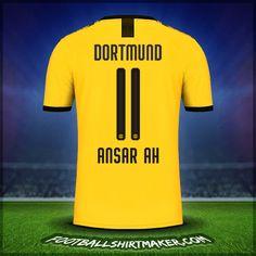 Make personalized Borussia Dortmund jersey. Customize jersey Borussia Dortmund with your name and number. Create jersey with the font Borussia Dortmund Cristiano Ronaldo Goals, Nike Soccer, Under Armour, Names, Sports, Borussia Dortmund