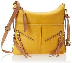 Lucky Brand Delta Shoulder Bag,Marigold/Saddle