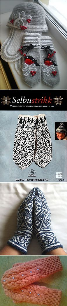 Вяжем варежки спицами - Рукоделие Mittens Pattern, Knit Mittens, Knitted Gloves, Knitting Designs, Knitting Projects, Knitting Patterns, Crochet Patterns, Crochet Books, Knit Crochet