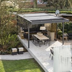 UK's leading names in outdoor garden furniture and all weather automated patio louvre roofs systems, the premier choice of garden designers and architects Outdoor Garden Furniture, Outdoor Rooms, Outdoor Living, Gazebo Pergola, Patio Roof, Modern Gazebo, Garden Room Extensions, Art Studio At Home, Pergola Lighting