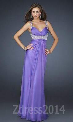 Have a memorable time by wearing the perfect La Femme 17543 Light Purple Elegant Sweetheart Long Sleeveless Prom Dress
