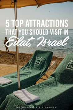 5 Top Attractions that you should visit in Eilat, Israel Israel is famous for being the 'Holy Land' and is already a destination most travelers would love to go to. That has been established already and luckily, I already checked that from my bucket list. In fact, I have a number of articles about Israel which you might want to check out.  But just so you know, there is more to see in here. Did you know that there is a town in Israel famous for its beaches?
