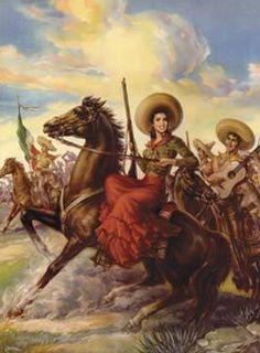 Adelita Mexican Calendar Art Postcard Reproduction Vintage