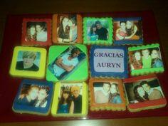 Galletas con foto comestible para regalar al mismo grupo Auryn!