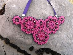 Baroque Softly Pink Crocheted Necklace
