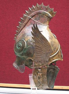 Here's one Thracian helmet: