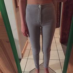 """PacSun Uber High Rise Jeggings These are the blue and white striped """"Uber High Rise Skinniest"""" Jeggings from PacSun (Pacific Sunwear). They've only been worn maybe twice. In perfect condition. Selling because they are about a size too small on me. Originally paid $50.00. Bullhead Pants"""