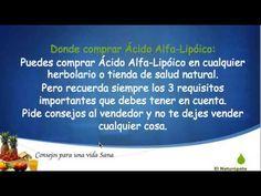 Antes de Comprar ácido alfa lipoico -  Propiedades del ácido alfa lipóico - YouTube