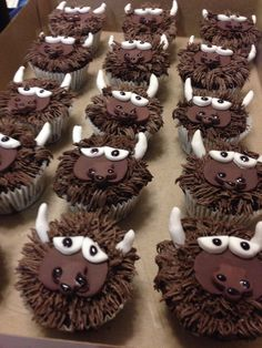 Rumble the Bison cupcakes. Oklahoma City Thunder