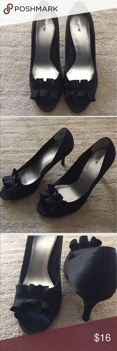 MAKE YOUR OFFER! APT.9 Black Satin Open Toe Heel 9 APT.9 Black Satin Open Toe Heels 9 Apt. 9 Shoes