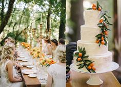wedding cake with clementines #orange