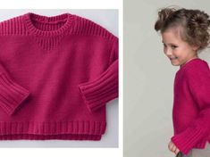 Free knitting: the jersey and rib sweater - Tricot gratuit : le pull en jersey et côtes Large and comfortable like a sweatshirt, this fuchsia pink model is knitted in reverse jersey with shoulders in rib, cuffs and bottom in rib … Free Knitting, Knitting Patterns, Crochet Pattern, Knit Crochet, Tricot Baby, Minecraft Pixel Art, Couture, Pullover, Ravelry