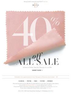 40% off sale - email design