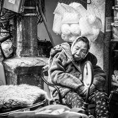 Early morning market. Some still sleeping. #Hanoi