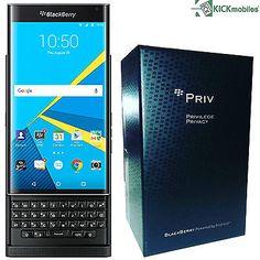 """Brand New BlackBerry Priv Black STV100-1 Unlocked GSM Slider Android 5.4"""" 32GB 3"""
