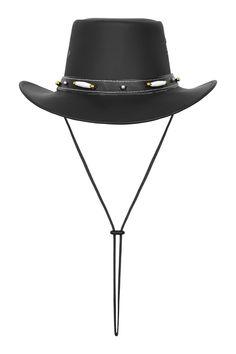 Australian Style Leather Western Hat Cowboy Hat with Bone Western Hats, Western Cowboy, Leather Cowboy Hats, Hats For Men, Real Leather, Westerns, Bones, Plastic, Crown