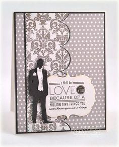 Waiting Groom Card by Debbie Olson for Papertrey Ink (December 2012)