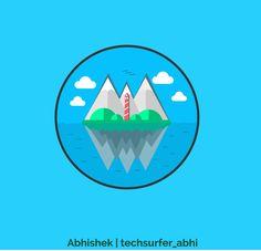 Underwater Minimal Vector. #techsurfer_abhi #techsurfer #techheap #abhi #abhishekgupta #minimal #vector #illuatration #art #drawing #vectorart #nature #clouds