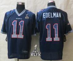 c34e186963c New England Patriots 11 Edelman Drift Fashion Blue New Nike Elite  Jerseyscheap nfl jerseys