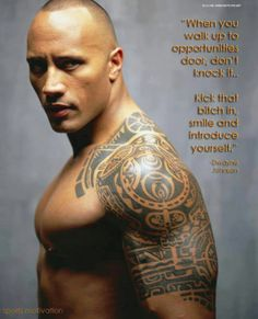 Mmmmmm The Rock, could be my Manny, he's strong, funny and tough as nails,, and he's got a smile that makes my heart sing!! Oh I love the Rock.