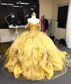 Belle (Costume by TheDesignerDaddy Ball Gown Dresses, 15 Dresses, Pretty Dresses, Disney Princess Dresses, Disney Dresses, Adult Princess Costume, Princess Belle Dress, Disney Princess Costumes, Robes Disney