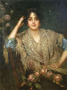 "A.Harlamov ""Southern woman with shawl"""