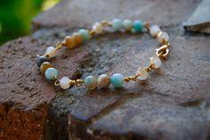 Crystal Cove Amazonite Bracelet by TheseJoyfulAches on Etsy