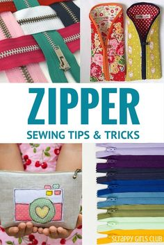 Zippers are not as hard as they seem. Armed with these simple tips, free class and special tricks you will be sewing zipper bags all night long!