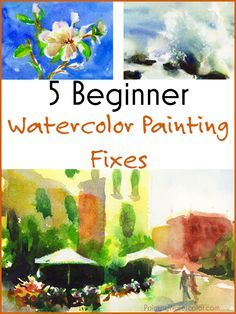"Turn ""Mistakes"" into Masterpieces. Watercolor Painting Lesson from Jennifer Branch."