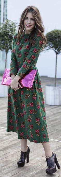 #MBFWI Day 4 by Maritsanbul (maritsa.co) Tailor-made dress / özel dikim elbise MARGIELA FOR H&M clutch / çanta YSL & TOPSHOP rings / yüzükler THALLO bracelet / bileklik DERLIEBLING earrings / küpe HOTIÇ AW13 shoes / ayakkabılar – yeni sezon