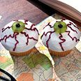 Eyeball Cupcakes  Epicurious  | October 2004  by Clare Crespo  HEY THERE, CUPCAKE! 35 Yummy Fun Cupcake Recipes for All Occasions