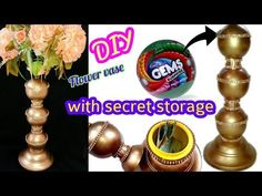 How to make flower vase with secret storage | DIY craft from waste - YouTube