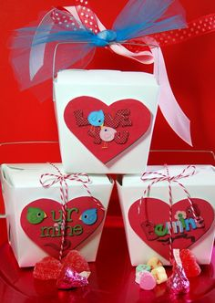 Neat idea for valentine gift bags...we are doing this for Tierney's class this year.