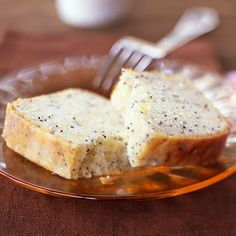 Lemon-Poppy Seed Pound Cake by Cooking Light. This Lemon-Poppy Seed Pound Cake is a classic recipe that is a true crowd-pleaser. Don't forget to brush the lemon glaze over the warm cake as it comes out of the oven. This recipe can be used to make delicious breakfast muffins too.