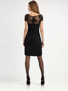 Outstanding Crochet: Ralph Lauren. Crochet black little dress.