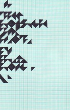 graph paper will always be cool... and triangles.