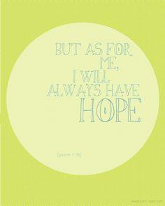 petit lapin: :: HOPE :: psalm 7:14 green chevron quote