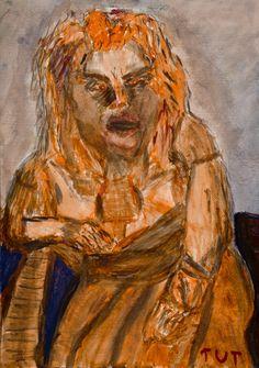 Wojciech Tut Chechliński, Jestem, akwarela na papierze, 59,5 x 42 cm, 2009 r, sygnowany (kat. 013)
