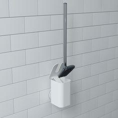 Umbra WC-puhdistin seinälle tai lattialle Toilet Brushes And Holders, Toilet Roll Holder, Bathroom Bin, Bathroom Furniture, Traditional Toilets, Bathtub Tile, Chrome Handles, Modern Shop, Toilet Bowl