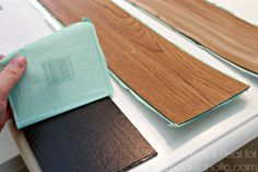 Remodelaholic | DIY Plank Backsplash Using Peel and Stick Vinyl Flooring
