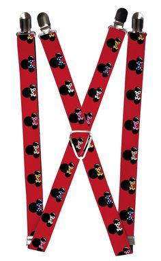 9165b842f Buckle Down Kids  Elastic Disney Mickey   Minnie Mouse Clip End Suspenders