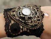 Great steampunk style cuff.