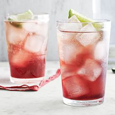 Sour-Cherry Gin Smash- been eyeing this for weeks. I think I'll make it for the fourth :)