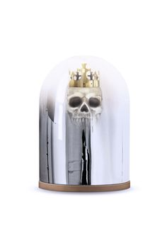 This stunning whimsical King Arthur Mirror Dome Table Lamp by Mineheart features the legendary medieval King Arthur preserved within a mirrored glass dome.