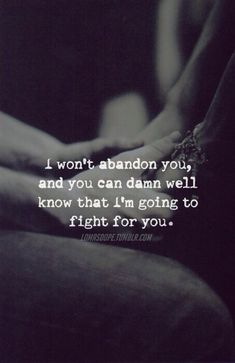 Always.. I will fight for you ❤
