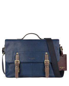 Color highlight messenger bag - Navy | Bags | Ted Baker